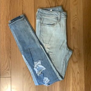 AE Ripped Two-tone Jeans